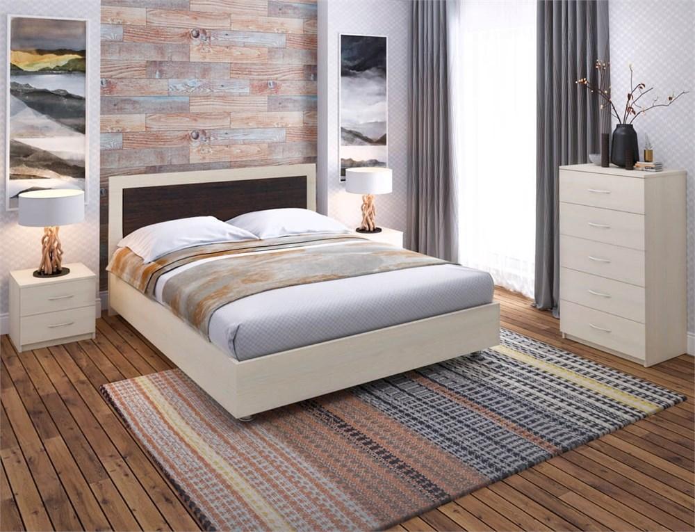 """Кровать """"Райс 1"""" Цвет Дуб+Венге"""