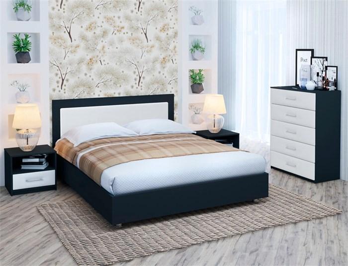 """Кровать """"Марла 1"""" Цвет черный+белый"""