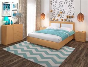 """Кровать """"Райс 2"""" Цвет Бук 265+Белый"""