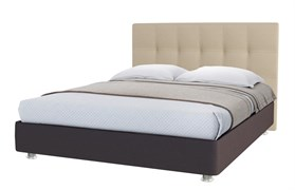 """Кровать """"Серсея"""" Цвет коричневый+бежевый"""