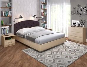 """Кровать """"Шарли"""" Цвет бежевый+коричневый"""